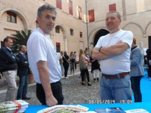 Giorgio Balzeri e Lauro Marzola di Exera presso stand Exera all'Ascom Day 2014 Ferrara