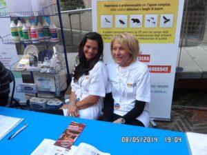 Hostess Exera presso stand Exera all'Ascom Day 2014 Ferrara