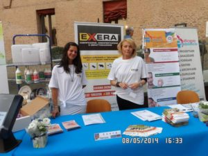 Hostess Exera presso stand Exera all'Ascom Day 2014 Ferrara
