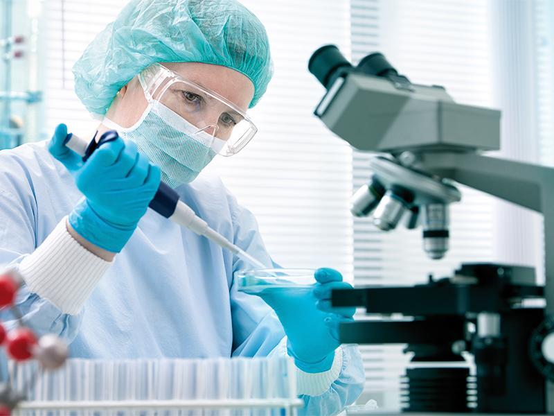 Analisi chimica in laboratorio sulla legionella