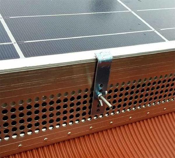 Rete antipiccione per pannello solare