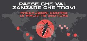 Precauzioni contro malattie Dengue, Zika, Febbre Gialla, West Nile e altre